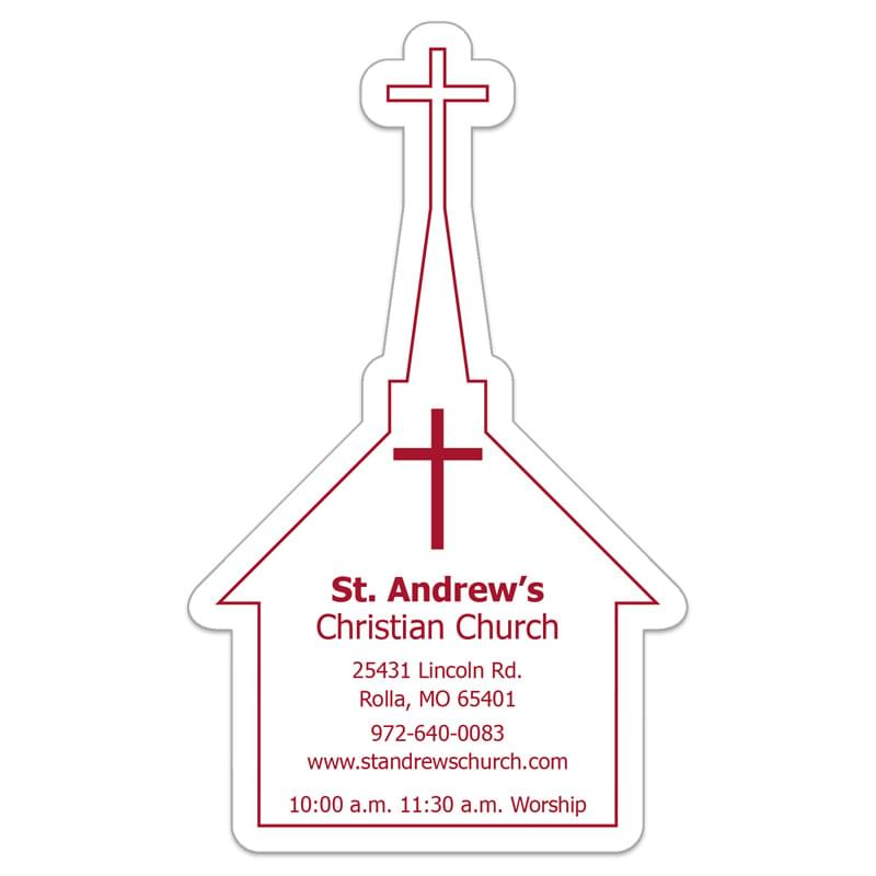 "Church 0.03"" Thick Vinyl Die Cut Large Stock Magnet"