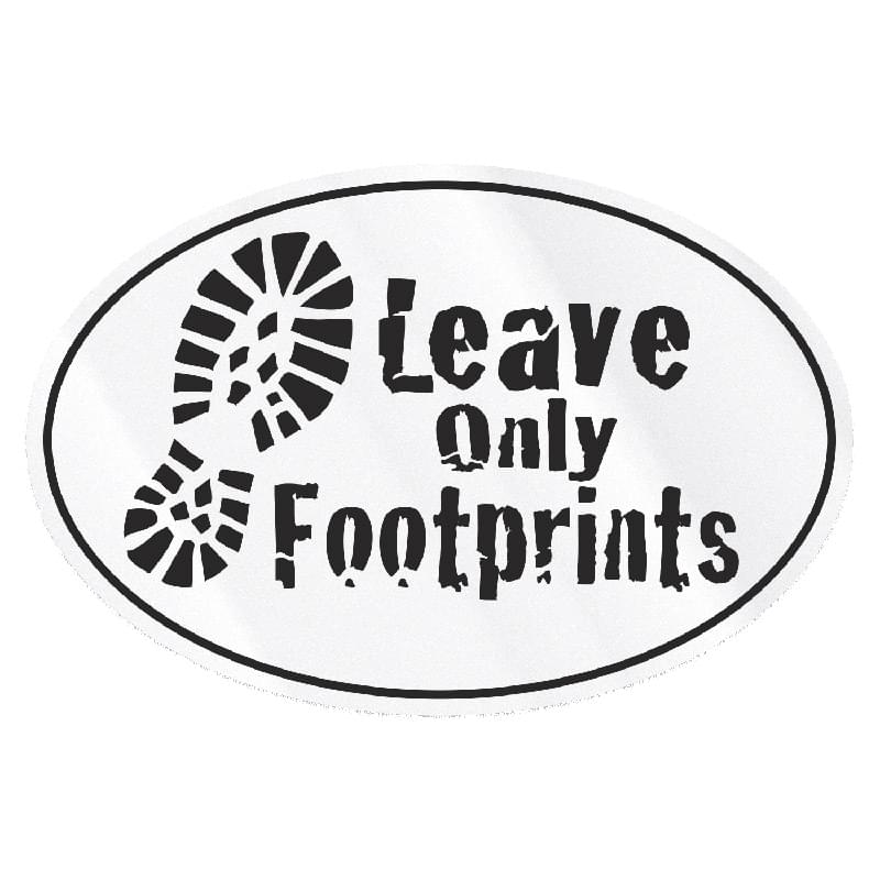 "Set 1 Large Stock Oval Decal (4""x6"") Screen Print"