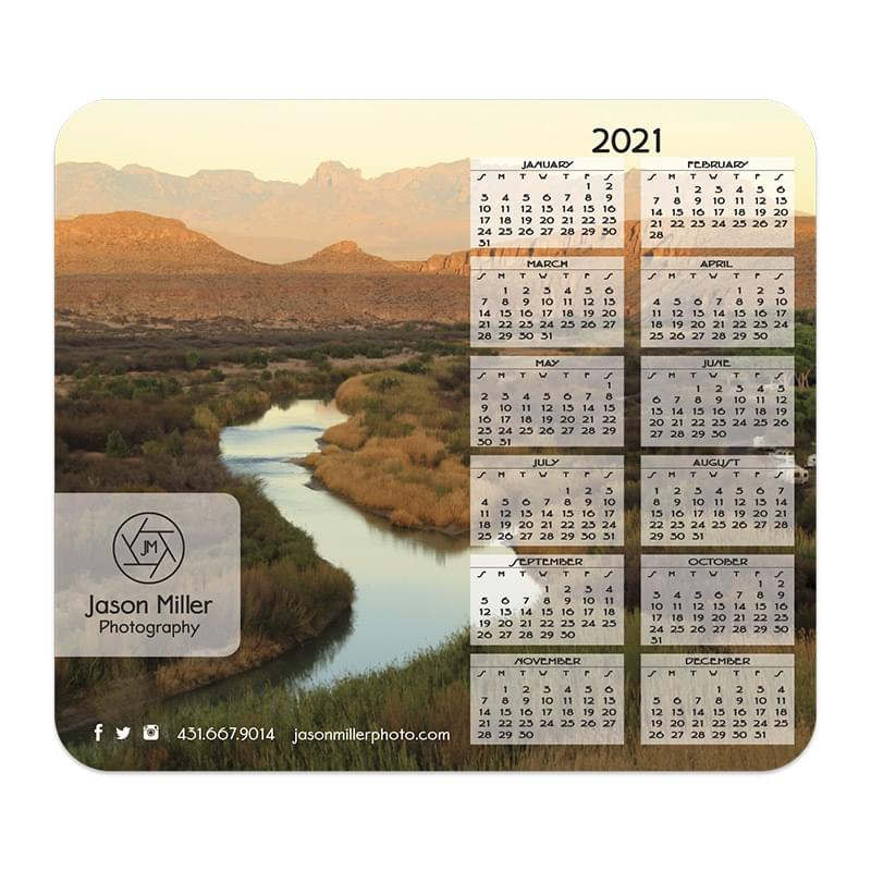 Ultra Thin Calendar Mouse Pads with Vertical Right Calendar