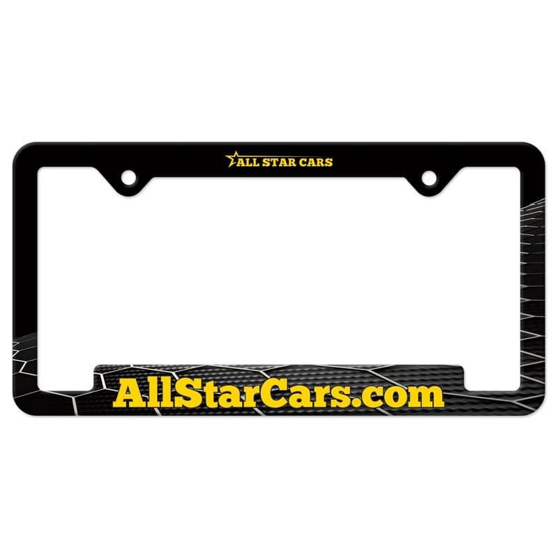 Auto License Frame Full Color w/ 2 Holes & Large Bottom Jutted Panel