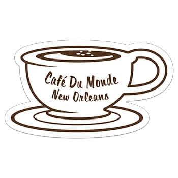 "Cup & Saucer 0.03"" Thick Vinyl Die Cut Medium Stock Magnet"