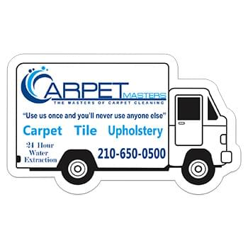 "Box Truck 0.03"" Thick Vinyl Die Cut Medium Stock Magnet"