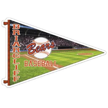 Pennant Full Color Sports Magnet