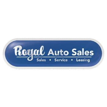 "Brushed Chrome Poly Permanent Adhesive Rectangle Domed Decal (1 3/4""x5 3/4"")"