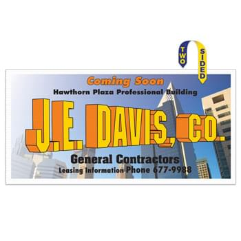 "Corrugated Plastic Sign: Full Color/1 Side (24""x48"")"