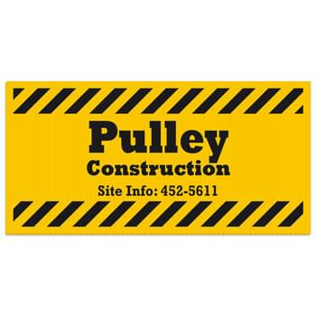 "Corrugated Plastic Sign: 1 Color/1 Side (12""x24"")"