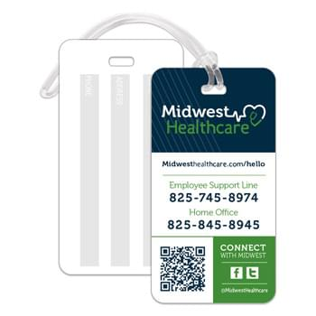 Rectangle Bag/ ID Tags for Handheld Bags