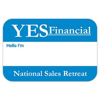 "Rectangle Stock Satin Lapel Sticker (2""x3"")"