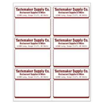 "Laser Sheeted Labels (3 5/16""x4"")"