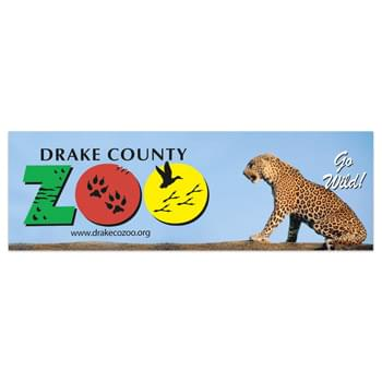 "Digital Full Color Vinyl Zip Strip Bumper Sticker (3 3/4""x11 1/2"")"