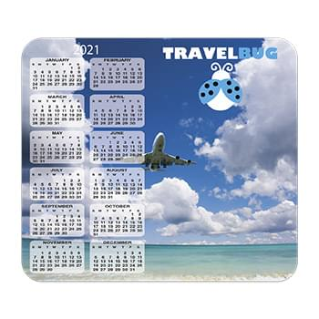 Ultra Thin Calendar Mouse Pads with Vertical Left Calendar