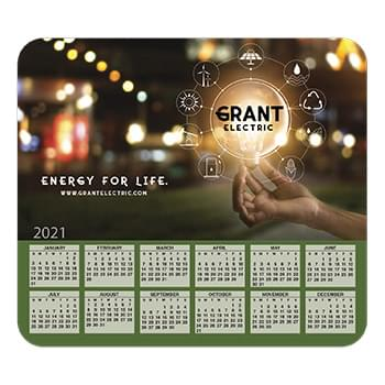 Ultra Thin Calendar Mouse Pads with Horizontal Calendar