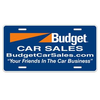 "Auto Card Poly Coated Card Stock License Plate (6""x12"")"