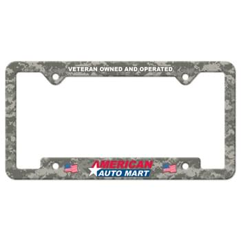 Auto License Frame Full Color w/ 4 Holes & Large Bottom Jutted Panel