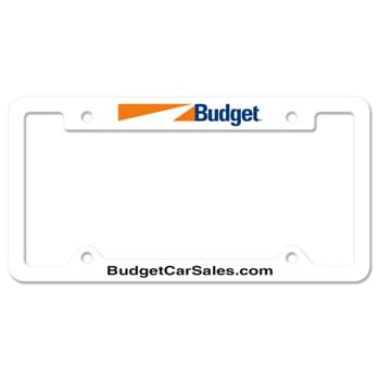 Auto License Frame Full Color w/ 4 Holes & Large Top Panel