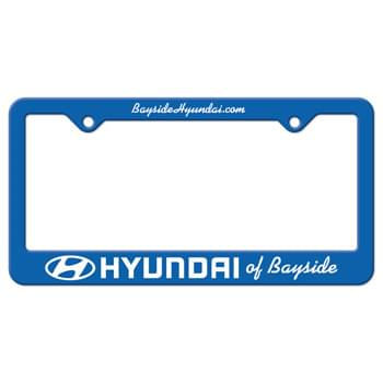 Black Auto License Frame w/ 2 Holes & Large Bottom Straight Panel