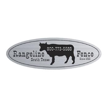 "Oblong Idento Vinyl Identification Decal (1 3/4""x3 3/4"")"
