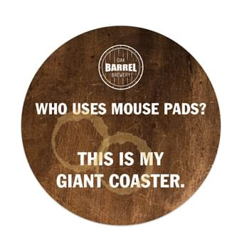 "Round Hard Surface Mouse Pad with 1/8"" Foam Back (7 1/2"" Diameter)"