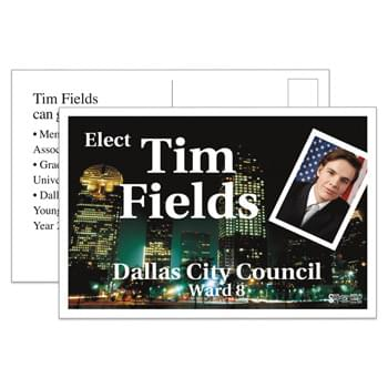 "Palm Card Full Color (4""x6"") - White 10 Point Card Full Color Stock"